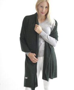 Grön sjal i silke och kashmir
