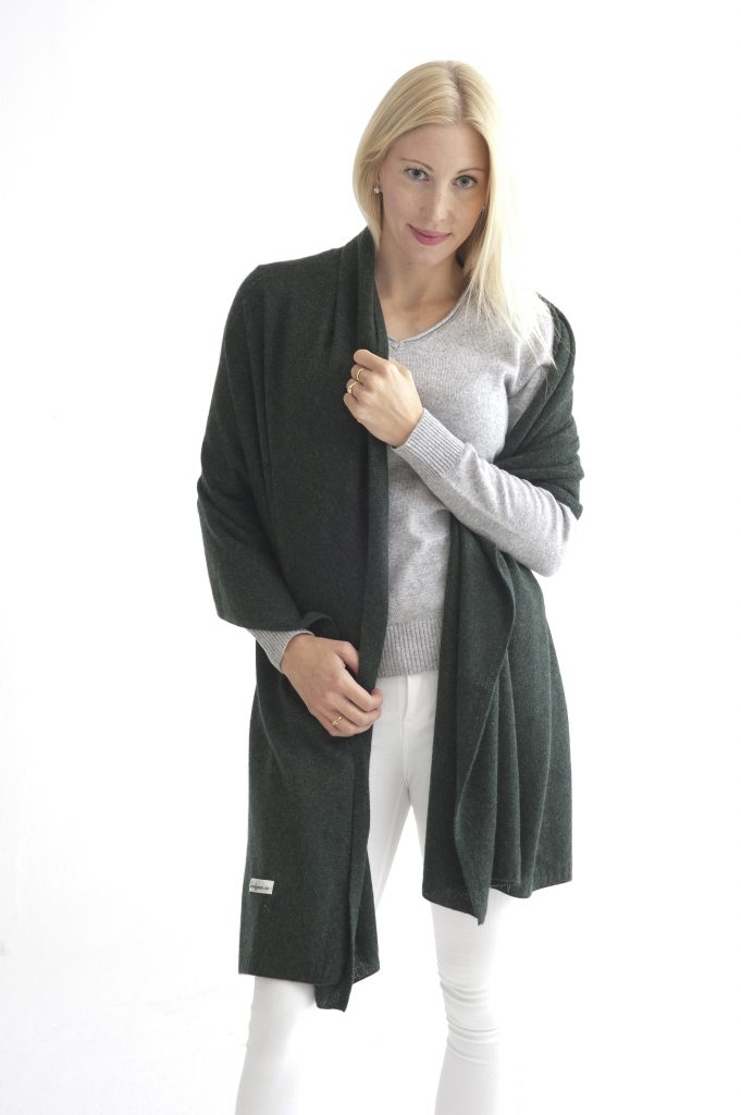Grön sjal i silke och kashmir ea8091407b59a