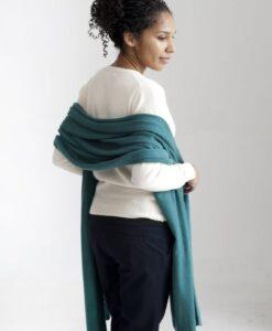 Ljusgrön sjal i silke och kashmir