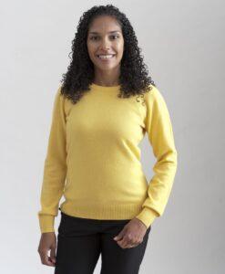 Rundhalsad sweater i 100% kashmir. Ett prisvärt basplagg för garderoben.